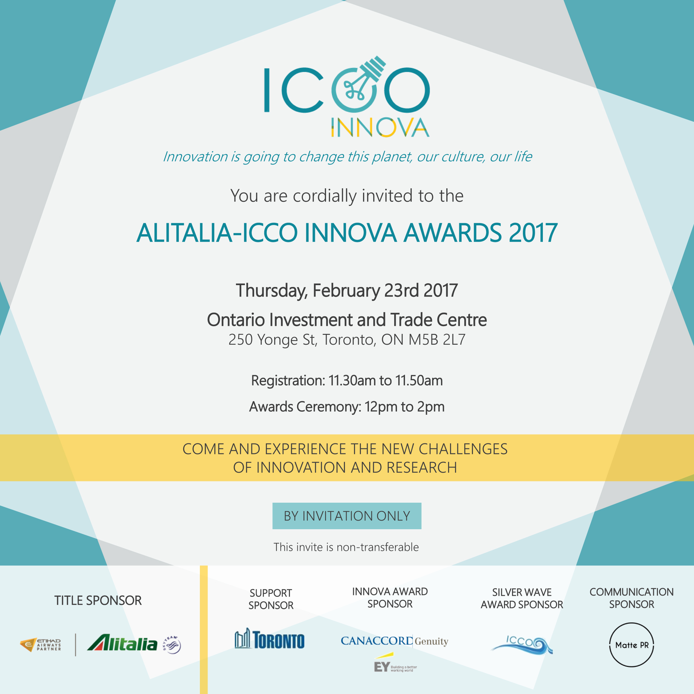Alitalia ICCO Innova Awards 2017